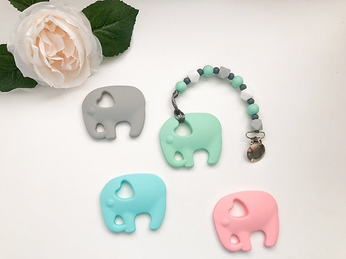 Hexa w Colour & Elephant Teether