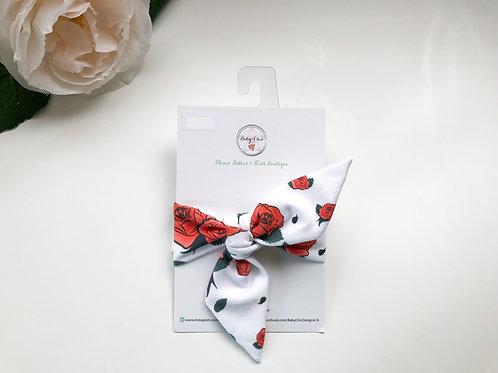 Bow Tie Headband - Rose