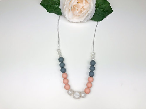 Nude & Pearl Teething Necklace