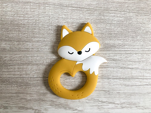 Fox Teether - Mustard Yellow