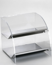Countertop organizer with 2 wide compartments
