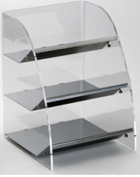 Countertop organizer with 3 wide compartments