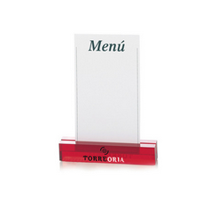 Plexiglass menu holder
