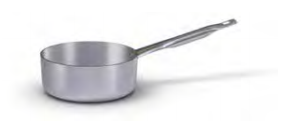 7024 Low saucepan with long handle