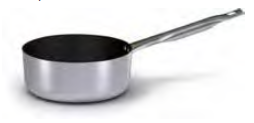 2024  Low saucepan with long handle