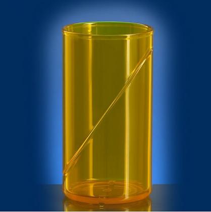 waterglass 0,25l SAN yellow