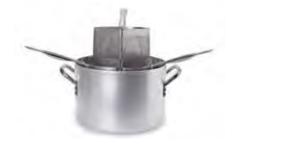 7036 Pasta pot with 3 aluminium strainers