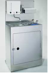 Combined mobile cleaning sink with  handwash basin
