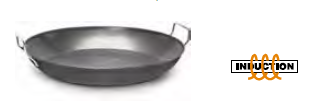 3008 Heavy iron serving pan 2 handles