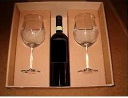 Σετ Δώρου 2 ποτηριών + θέση για μπουκάλι κρασί. Κο