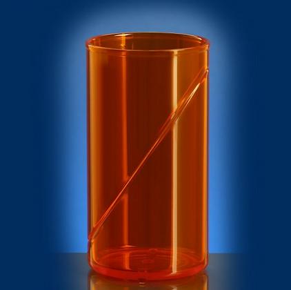 waterglass 0,25l SAN orange