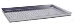 7050 Rectangular baking sheet with holes Ø mm 7 wi