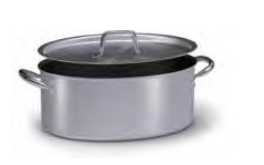 2032 Oval casserole with 2 handles with lid