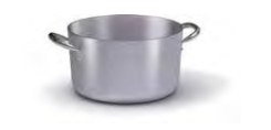7018 Medium height casserole with 2 handles