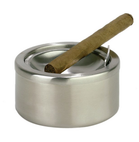 Ash-tray with lid