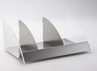 Countertop organizer with 3 compartments
