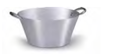 7060 Conical colander with 2 handles