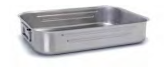 9040 Roasting pan with foldable handles
