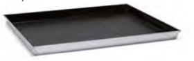 2044 Rectangular baking sheet with tapared sides