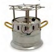 1534 Chromed serving flambeau (with gas)