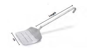 9100 One piece fish spatula