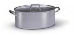 7032 Oval casserole with 2 handles with lid