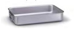 7040 Heavy roasting pan with 2 folding handles