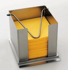 Napkin box with holding clip