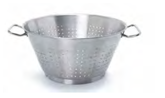 9060 Conical colander with 2 handles