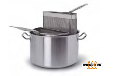 9035 Pasta pot with 2 mesh strainers