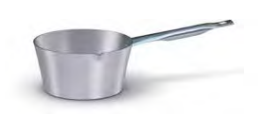 7030 Tapered saucepan with spout