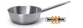 9030 Tapered saucepan with long handle