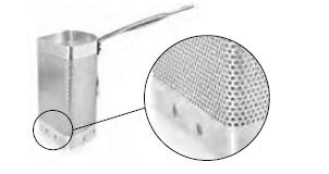 7064 1/3 aluminium strainer for pasta pot, with ho