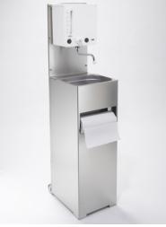 Mobile hotwater handwash basin