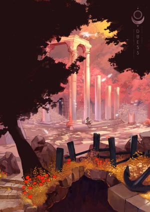 Asleep background illustration 01