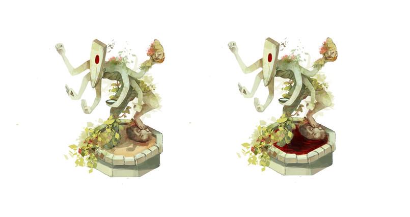 Godess statue concept art