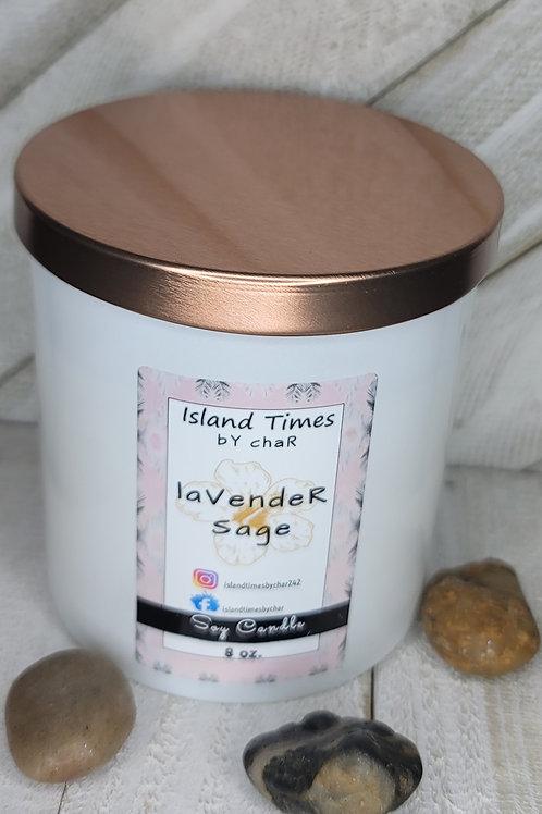 Lavender Sage Soy Candle  8 oz. - 12 Count