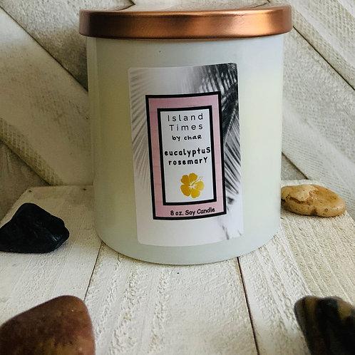 Eucalyptus Rosemary Soy Candle 8 oz.