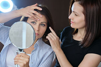 Middle-aged woman in beauty salon, femal