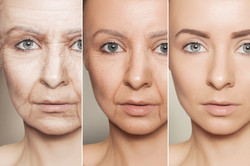 Beauty concept skin aging, anti-aging pr