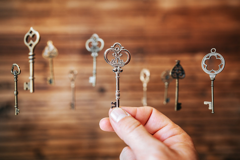 Choosing the right key, metaphorical to