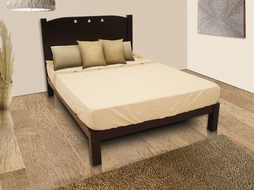 Cama king 200 x 190 cm chaim sanchez renta de for Alquiler de muebles de oficina
