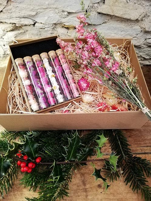 Coffret 6 fioles et 1 bouquet