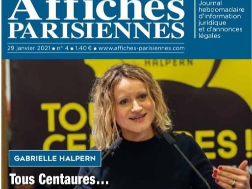 Les affiches parisiennes- La Une : Tous centaures... Ou presque!