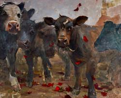 Brave Bulls 24x30