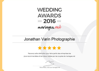 Wedding Award 2016 !