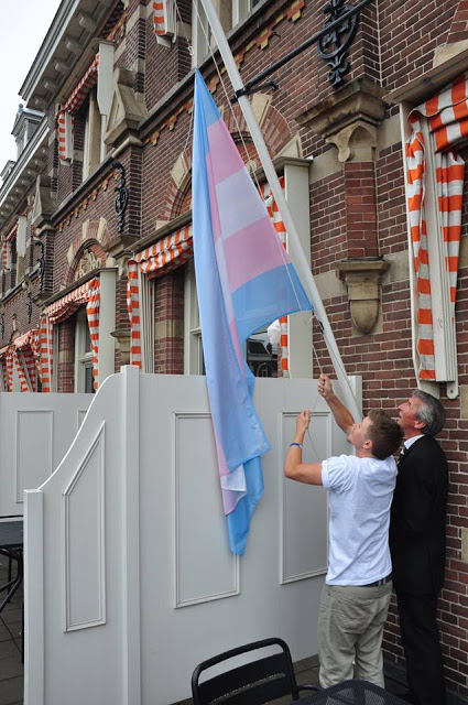 Trans Flag on Manor Hotel