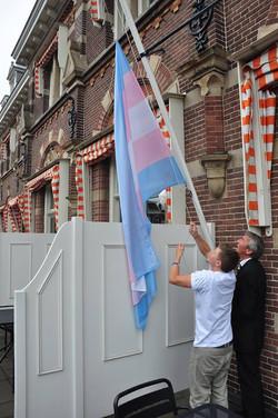 Trans Flag on Manor Hotel