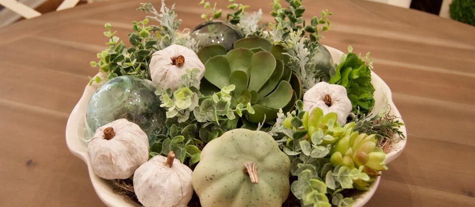 DIY Seasonal Succulent Centerpiece