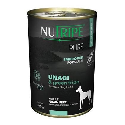 Nutripe Pure Unagi & Green Tripe Dog 390g (12 cans)